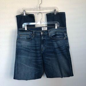 FRAME Denim L'Homme Slim Distress Jeans